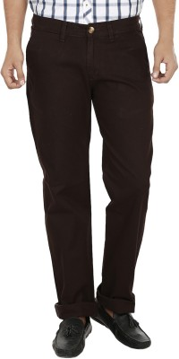Regale Regular Fit Men's Purple Trousers