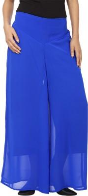 Lambency Regular Fit Women's Blue Trousers