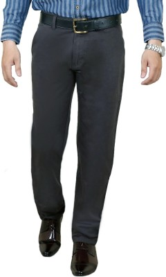 Zrestha Slim Fit Men's Grey Trousers