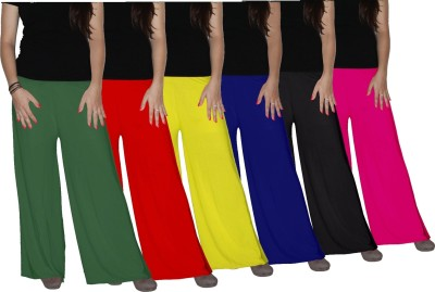 Xarans Regular Fit Women's Black, Red, Pink, Green, Yellow, Blue Trousers
