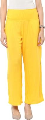 Sakhi Sang Regular Fit Women's Yellow Trousers