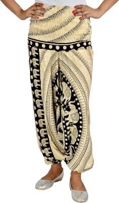 Jhoomar Regular Fit Women's Cream Trousers