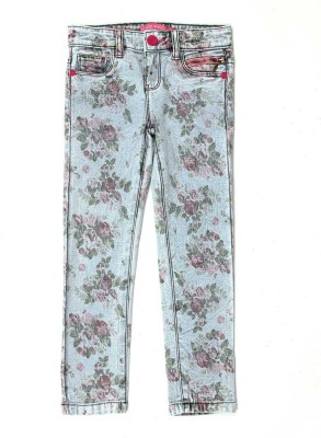 London Fog Regular Fit Girl's Denim Light Blue Trousers