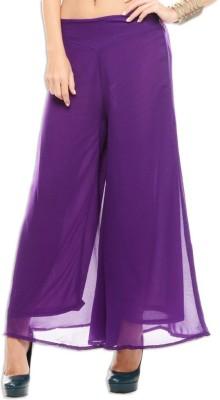 Kyron Regular Fit Women,s Purple Trousers