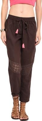 Rena Love Regular Fit Women's Brown Trousers