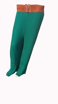 Mastketeers Slim Fit, Regular Fit Women's Dark Green Trousers