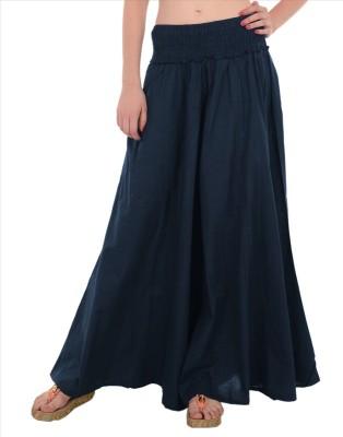Skirts & Scarves Regular Fit Women's Dark Blue Trousers