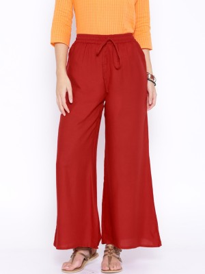 Anouk Regular Fit Women's Red Trousers
