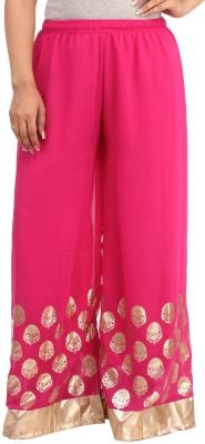 Guru Nanak Fashions Regular Fit Women's Pink Trousers