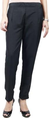 Haniya Slim Fit Women's Black Trousers