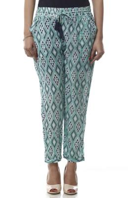 Lyla Regular Fit Women's Green Trousers