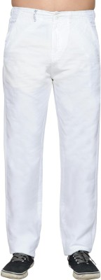Thinc Regular Fit Men's White Trousers