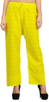 VASTRAA FUSION Regular Fit Women's Yellow Trousers