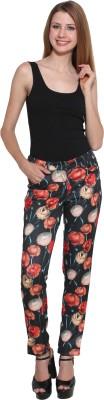 EVA DE MODA Regular Fit Women's Black Trousers
