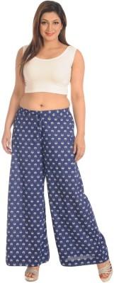 Salwar Studio Regular Fit Women's Blue Trousers