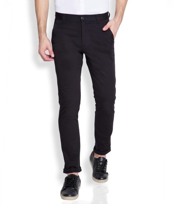 Highlander Slim Fit Men's Black Trousers