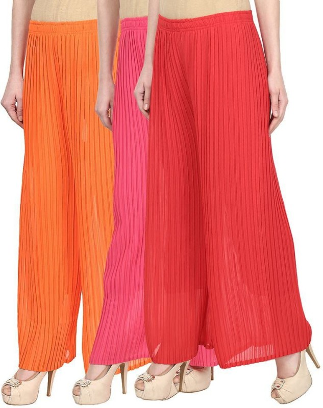 SYS Regular Fit Women's Orange, Pink, Red Trousers