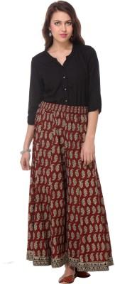 We Desi Regular Fit Women's Maroon Trousers