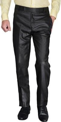 desert player Slim Fit Men's Black Trousers