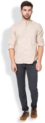 The Indian Garage Co. Slim Fit Men,s Grey Trousers