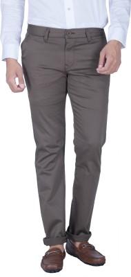 Integriti Slim Fit Men's Green Trousers