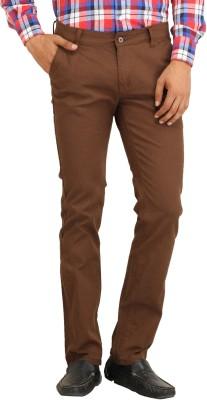 Stylz Regular Fit Men's Linen Brown Trousers