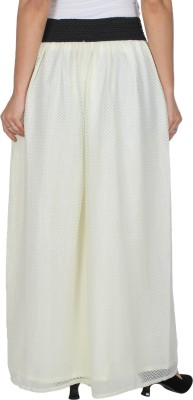 MDS Jeans Regular Fit Women's White Trousers