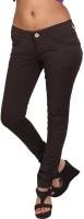 Prankster Skinny Fit Women's Brown Trousers