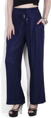 Chemistry Regular Fit Women's Dark Blue Trousers