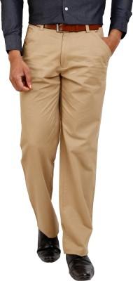 Zenrio Regular Fit Men's Brown Trousers