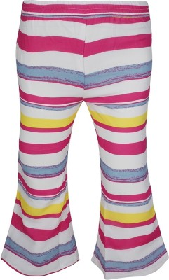 Jazzup Regular Fit Girl's Pink, Yellow Trousers