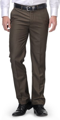 Leonardi Slim Fit Men's Green Trousers