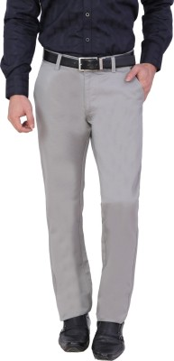 Louppee Regular Fit Men,s Grey Trousers