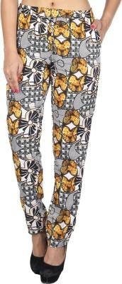 So Urban Slim Fit Women's Yellow, Grey Trousers