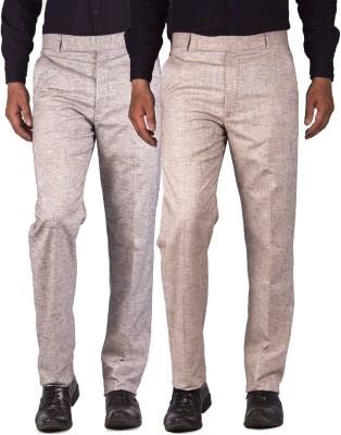 American-Elm Slim Fit Mens Multicolor Trousers