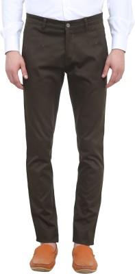 Colors Couture Slim Fit Men's Dark Green Trousers