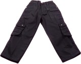 Boyhood Slim Fit Boys Black Trousers