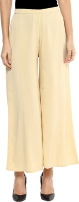 Libas Regular Fit Women's Beige Trousers at flipkart