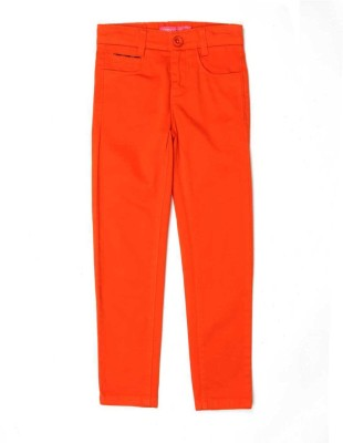 London Fog Regular Fit Girl's Orange Trousers