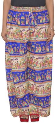 Pezzava Regular Fit Women's Blue, White Trousers