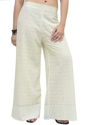 Charu Boutique Regular Fit Women's Beige Trousers