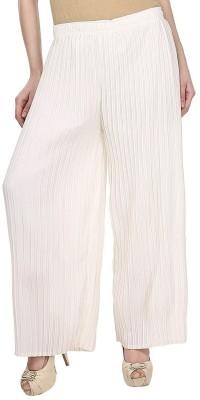 Civilized Showdown Regular Fit Women's White, Purple Trousers