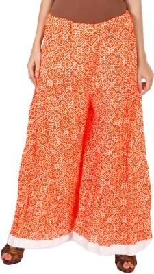Vedic Regular Fit Women's Orange Trousers