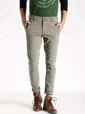 Roadster Regular Fit Men's Grey Trousers