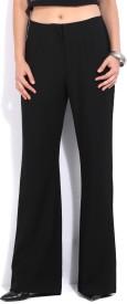 Forever New Regular Fit Women's Black Trousers