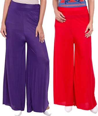 Komal Trading Co Regular Fit Women's Purple, Red Trousers