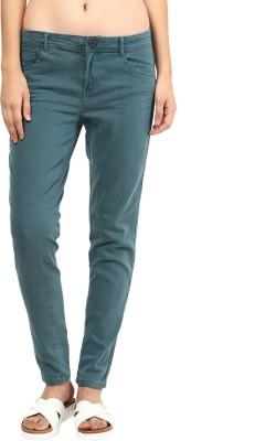 La Rochelle Slim Fit Women's Green Trousers