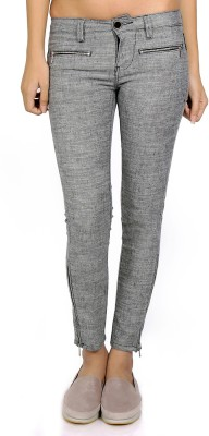 CODE 61 Skinny Fit Women's Grey Trousers
