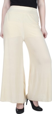 Broadstar Regular Fit Womens Gold, White Trousers