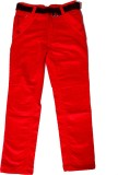 Kidicious Slim Fit Boys Red Trousers